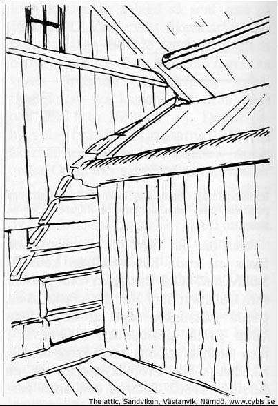In the attic of the Sandviken house